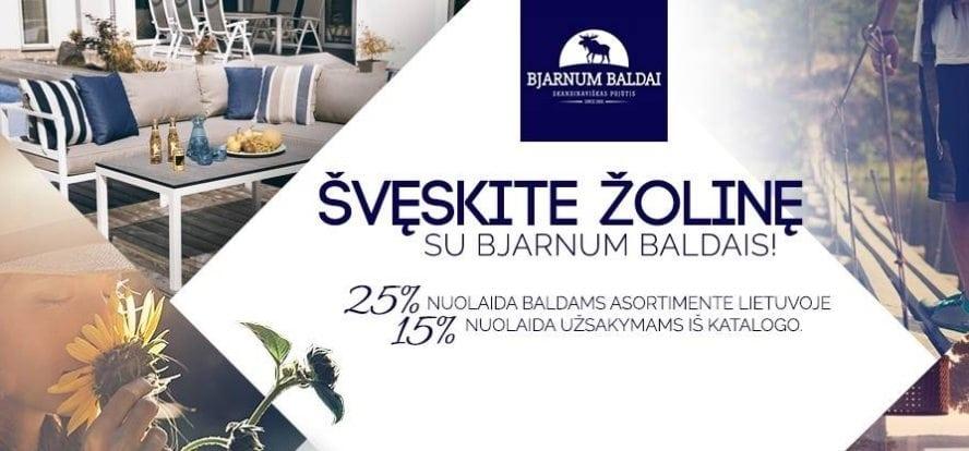 AKCIJA: švęskite Žolinę su Bjarnum baldais!