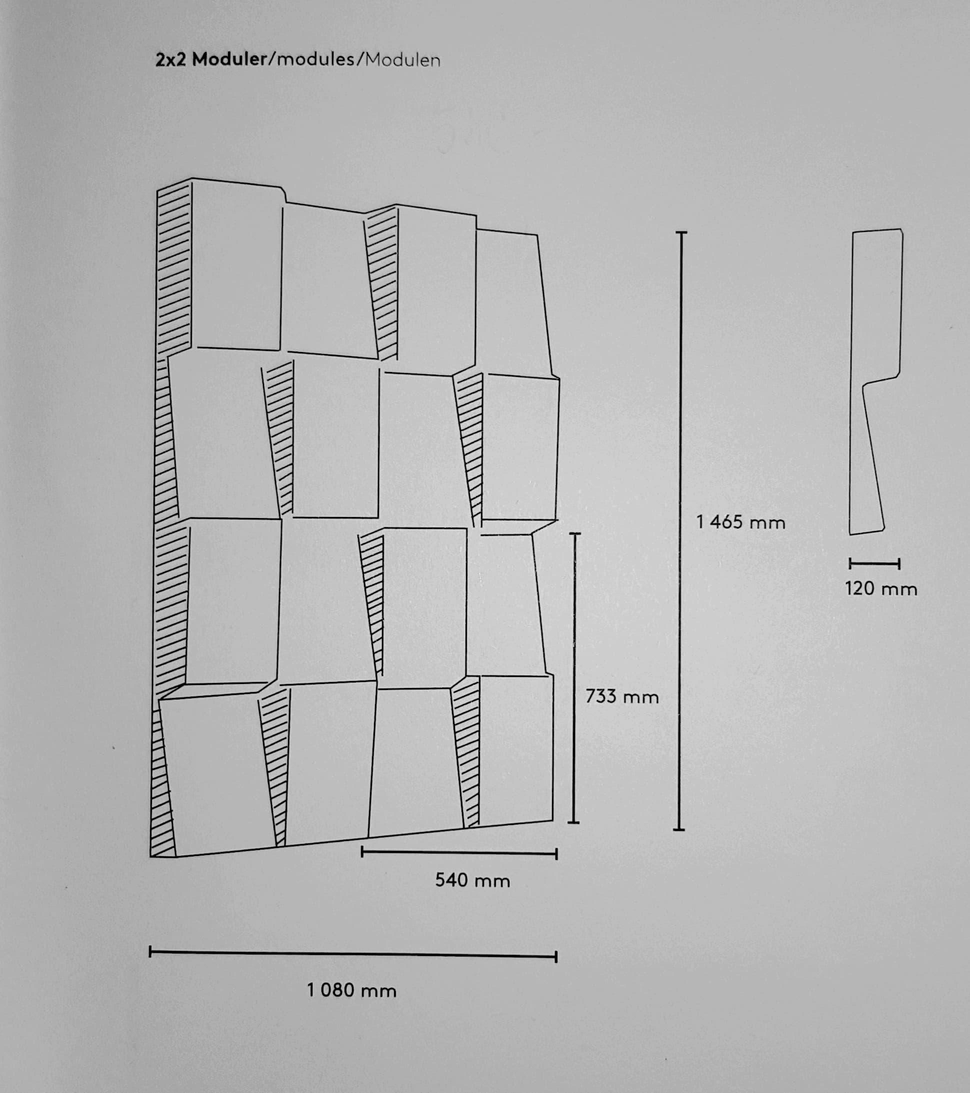 Window pakabinamas akustinis modulis Abstracta Bjarnumbaldai