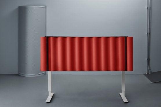 SCALA pastatoma prie stalo akustinė pertvara
