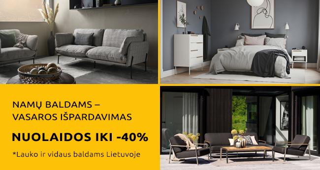 Namų baldams – vasaros išpardavimas!
